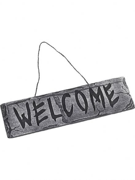 Hanging 'WELCOME' Plaque Sign